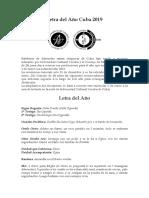 Letra del Año (Cuba) 2019