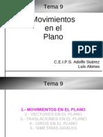 3ESO-Tema09-Movimientos En El Plano