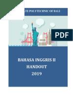 HANDOUT BHS INGGRIS II PLN PNB