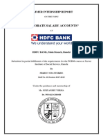 Corporate Salary Account Report for HDFC Bank (1)