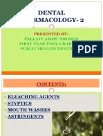 DENTAL PHARMACOLOGY PALLAVI AMMU THOMAS.pptx