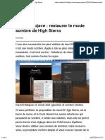 Mojave _ restaurer le mode sombre de High Sierra