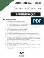 prova senado administrador