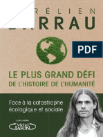 EBOOK Aurelien Barrau Le plus grand defi de lhistoire de lhumanite