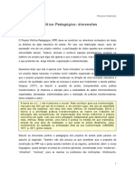 PPP Projeto Político-Pedagógico dimensões