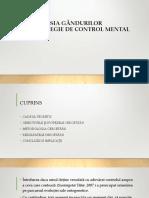 SUPRESIA GÂNDURILOR STRATEGIE DE CONTROL MENTAL 2.ppt