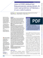 Recurrence of WHO-defined fast breathing pneumonia among infants, its occurrence and predictors in Pakistan