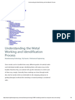 Understanding the Metal Working and Idendification Process