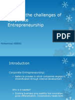 meeting the challenges of corporate entrepreneurship