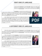 A DIFFERENT KIND OF LANGUAGE - texto 9 ano.docx