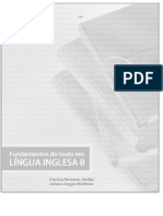 Fundamentos do texto em LÍNGUA INGLESA II.  - textos academicos