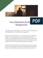 Las Reflexiones de Alexei Stepánovich