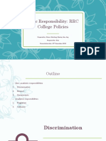 responsibility - rrc policies