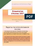 Présentation d'Access 2007