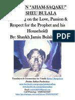 ODES ON 'AHAM SAQAKU' BY SHEU BULALA