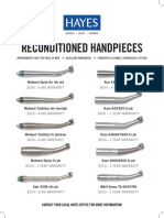 Hayes Maine Reconditioned Handpieces