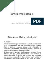 Atos cambiarios principais. Aceite, aval, endosso e protesto (1).pptx