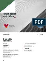Valor Público de La Cultura