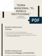 TEORIA ORGANIZACIONAL INSTITUCIONAL