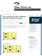 The Caged Guitar Method Part III - Minor Forms