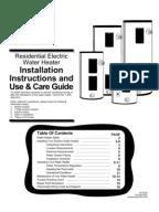 Noritz N 063 Installation Manual Water Heating