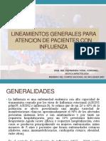LINEAMIENTOS GENERALES PARA  ATENCION DE PACIENTES CON INFLUENZA-1-1