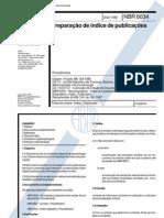 Abnt - Nbr 6034 - Preparacao de Indice de Publicacoes