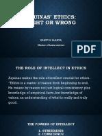 Blanza Report - Aquinas' Ethics