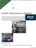 HISTORIA Y EVOLUCIÓN DE LA IMPRESORA