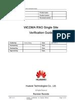 WCDMA RNO Single Site Verification Guide