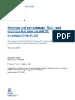 Moringa leaf concentrate (MLC)