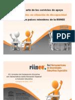 Status servicios de apoyo niños con discapacidad en Iberoamerica 2018