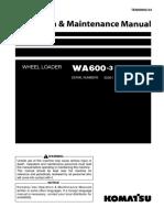 Manual de operacion y mantenimiento WA600