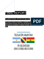 Final Report - Plurinational State of Bolivia