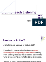 How to Teach Listening.ppt