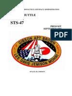 STS-47 Press Kit