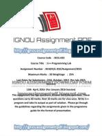 bcsl-032 Solved Assignment 2015-16 _ignouassignmentpdf.blogspot.com