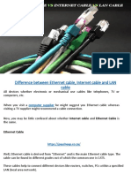 Difference Between Ethernet Cable, Internet Cable and LAN Cable