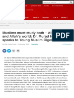 Muslims must study both - Allah's word and Allah's world
