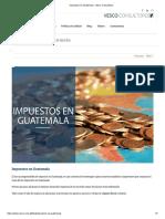 Impuestos en Guatemala - Vesco Consultores