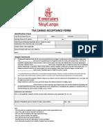 TSA Cargo Acceptance Form