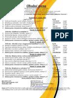 Obedné menu 13. 01.-17. 01. 2020