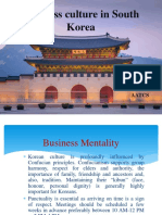 Business Culture in South Korea