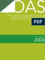 04Clculo Simplificado de Los Presupuestos Estimativos de Ejecucin Material Ao 2006 Diciembre