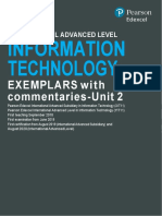 Edexcel International-A Level Information-Technology-Exemplar Unit 2