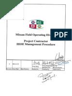 CMIT-000-FCD-00 08-000002-0 Project Contractor HSSE Management Procedure...