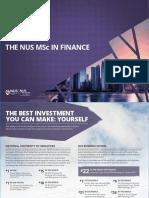 NUS MSc Finance Leaflet