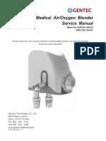 Medical Air-Oxygen Blender Instruction Manual