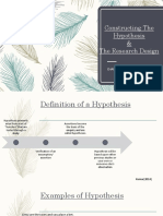 Constructing a Hypothesis & The Research Design Chapters 6 and 7 [Autosaved] [Autosaved](1) (1).pptx