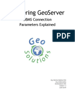 Mastering GeoServer - DBMS Connection Parameters Explained